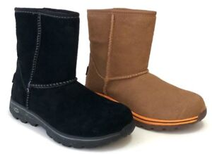 Ugg-Kids-Lynden-Boys-Boots-Waterproof-Suede-Upper-Rubber-Sole-Cold-Weather-Ready