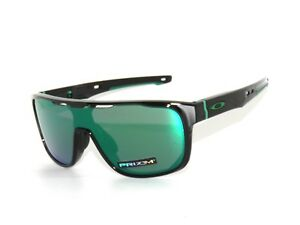 c709e4fa103 Oakley Crossrange Shield 9387-03 Black Prizm Jade Iridium Sunglasses ...