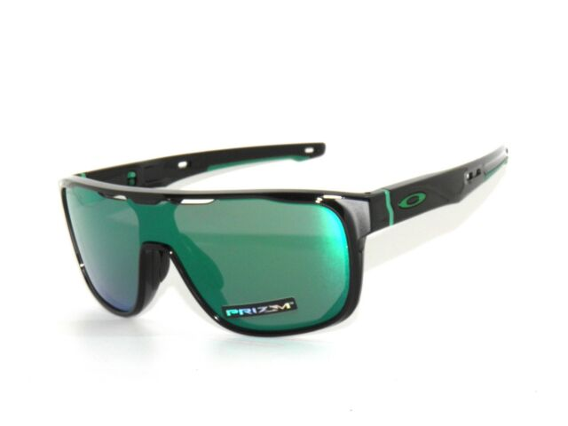 Oakley Crossrange Shield 9387-03 Black Prizm Jade Iridium Sunglasses  Clearance 5d094bea0f68f
