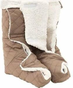 Leg-Foot-Warmers-Plush-Fleece-Warm-Therapeutic-Wraps-Pain-Relief-Restless-Legs