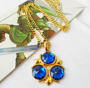 The legend of zelda blue ocarina of time zoras sapphire necklace image is loading the legend of zelda blue ocarina of time mozeypictures Choice Image