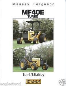 equipment brochure massey ferguson mf 40e turbo turf tractor rh ebay co uk