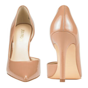 Women-039-s-High-Heel-Shoes-Pointed-Toe-Stiletto-Classic-Slip-On-Party-Evening-Pumps