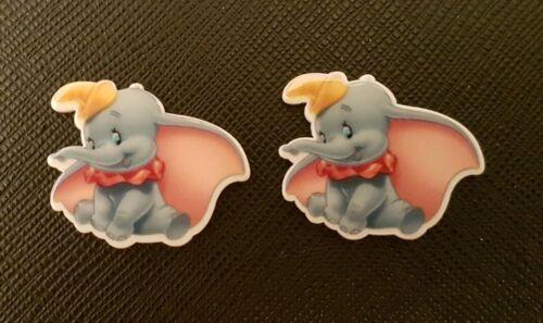 2 X Disney Dumbo El Elefante Planar Resina piso nuevo resinas Flatback Cabello