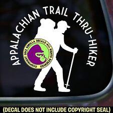 APPALACHIAN TRAIL THRU-HIKER Hiking Hike Car Window Sign Vinyl Decal Sticker