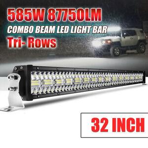 Details About 32 Inch Led Light Bar Driving Lamp Boat Offroad Flood Beam Suv 12v 24v