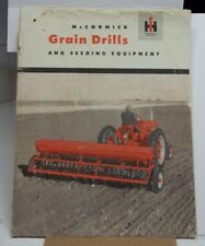 Vintage Mccormick Ih Grain Drill Seeding Equipment Farm Tractor Brochure Usa