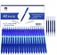 Smart Color Art 40 Pack Blue Gel Pens Retractable Medium Point Gel Ink Pens Smo