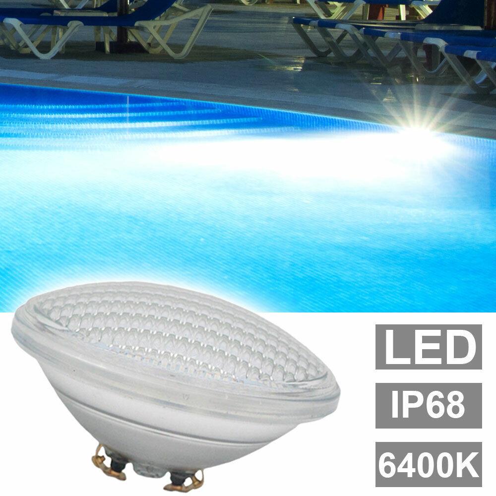 LED Lámpara de piscina 6400K Piscina Estanque Iluminación Lámparas PAR56 Spotlight blancoo frío