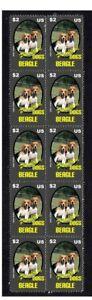 BEAGLE-PUREBREED-DOGS-STRIP-OF-10-MINT-VIGNETTE-STAMPS-1