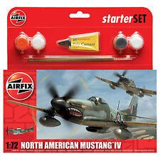 Airfix 1555107 N American Mustang IV Starter Set 1:72 Bausatz Modellbau Flugzeug