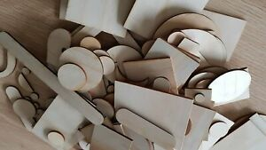 Loose-Parts-Pack-Wooden-Shapes-Craft-Learning-Resource-Educational-Game-Kids-Toy