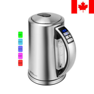 1.7L Stainless Steel Electric Kettle Water Boiler, Variable Temperature Control