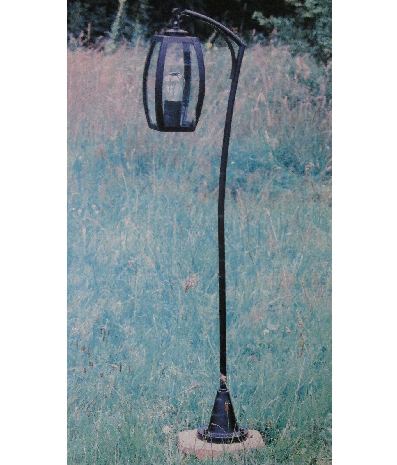 Außenlampe Stehleuchte Hänge Laterne Boden Garten Wege Lampe ANTEA E27 Schwarz