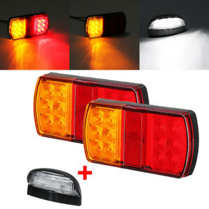 2x-12LED-Marine-Trailer-pair-of-Lights-Number-Plate-Light-Kit-Submersible-Boat