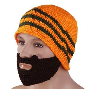 e7a69eb5b2a Details about Knitting Beard Beanie Mustache Mask Face Warmer Ski Bike  Winter Outdoor Hat Cap