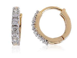 Pave-0-46-Cts-Runde-Brilliant-Cut-Diamanten-Creolen-In-Solides-18-Karat-Gelbgold