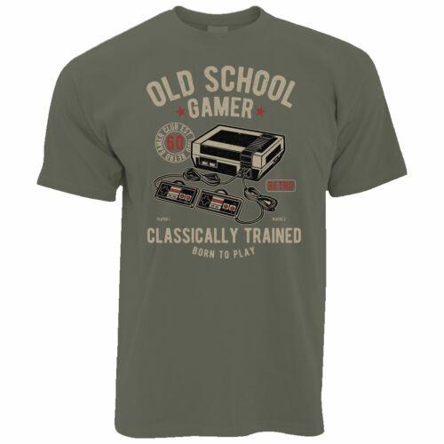 Mens Gaming T Shirt Old School Gamer Retro Video Game Arcade Console Tshirts Tee