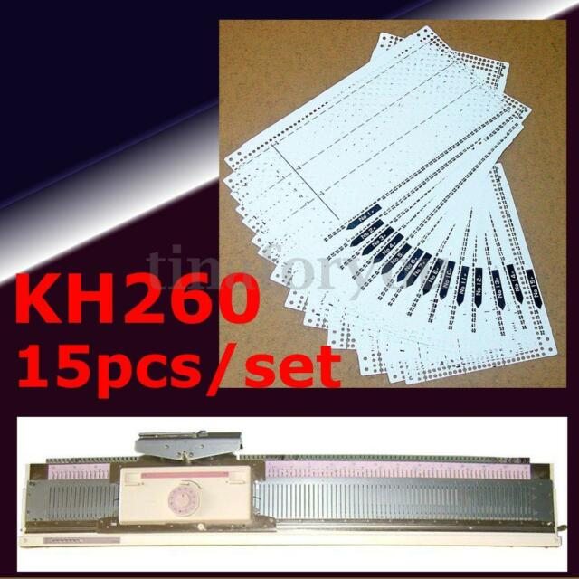 15pcs/set Pre Punched Card Kit For Brother KH260 Knitting Needlework