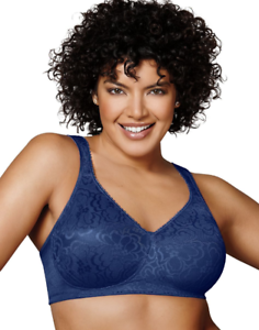New Bra Playtex 18-Hour Ultimate-Lift-/&-Support Wire-Free Navy 4745 MSRP-$36.00