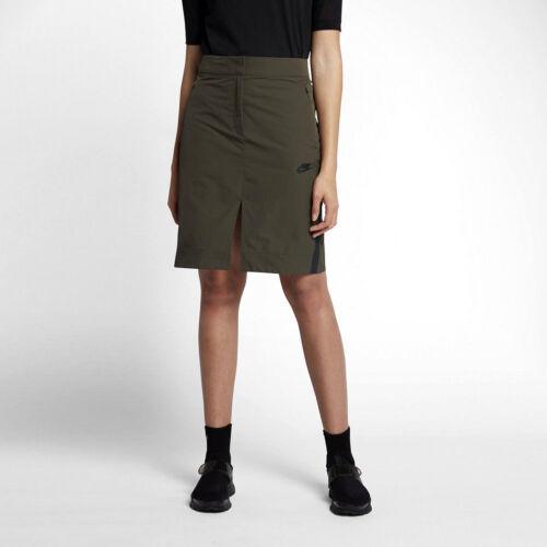 Nike Sportswear Womens Bonded Skirt Size M 855963-325 Olive Green/&Black NWT