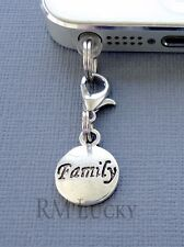 FAMILY Tag cell phone Charm Anti Dust proof Plug ear cap jack for iphone C209