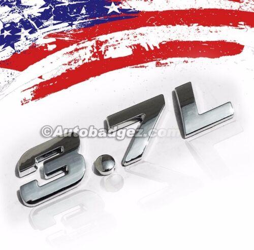 NEW 3.7L Chrome Badge Emblem Rear Side 3.7L CHROME BADGE fits G60 G37 G37S 1
