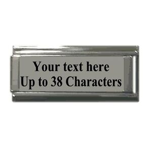 Italian-Charms-ANY-Phrase-Words-SUPERLINK-Personalised