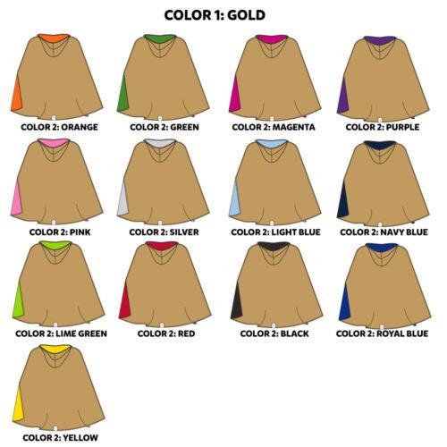 Everfan Kids Double-Sided Hooded CloakReversible Hooded Cape for Children