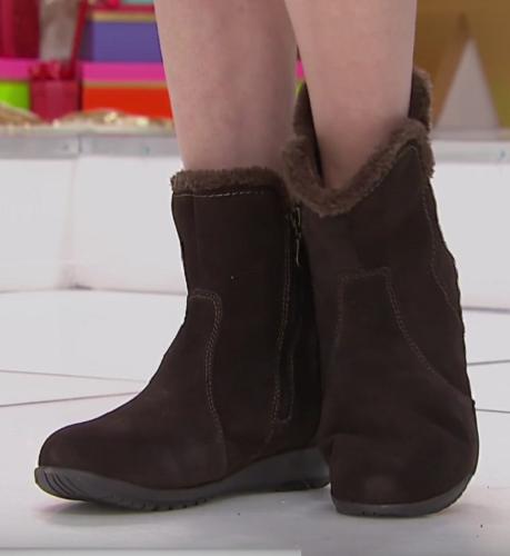 Sporto Karmen, waterproof women's suede boots, Chocolate 7 M
