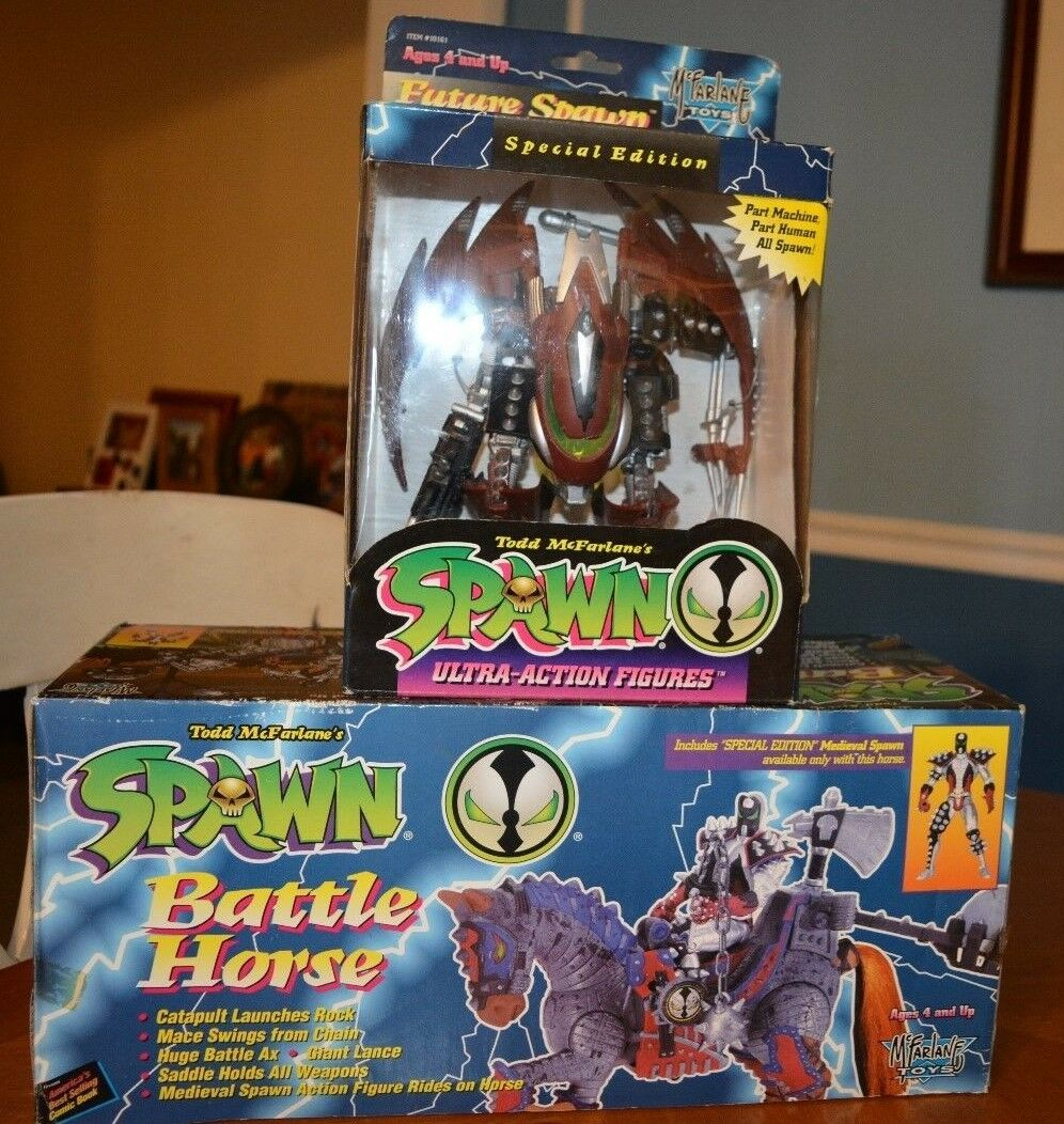 VERY COOL COLLECTION SPAWN DOUBLE FEATURE TOY DEAL BATTLE HORSE & FUTURE SPAWN