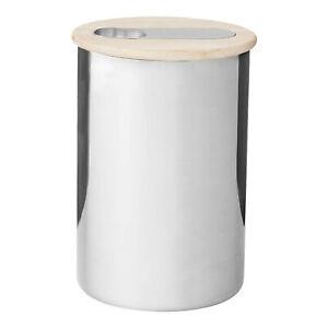 Stelton-Scoop-Kaffeedose-Mittel-mit-Messloeffel-Kaffee-Aufbewahrung-Dose-500g