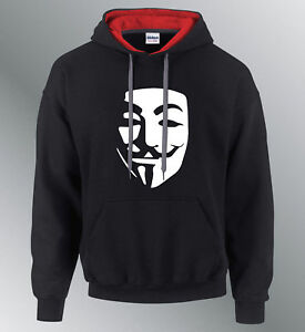 Sweat shirt Hoodie Anonymous S M XL XXL geek hacker pirate ... 14dbc69813cc
