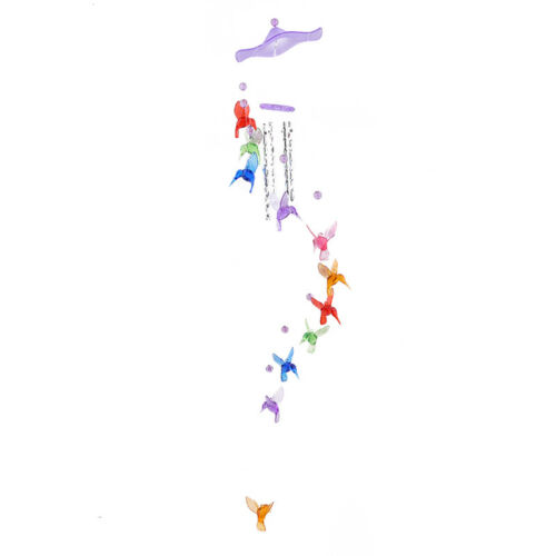Colorful Hummingbird Dolphin Wind Chime Bells House Window Hanging Decoration HS