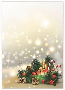 Motivpapier Weihnachten.Details Zu 25 Blatt Briefpapier 5054 A4 Format Motivpapier Weihnachten Gesteck Geschenk