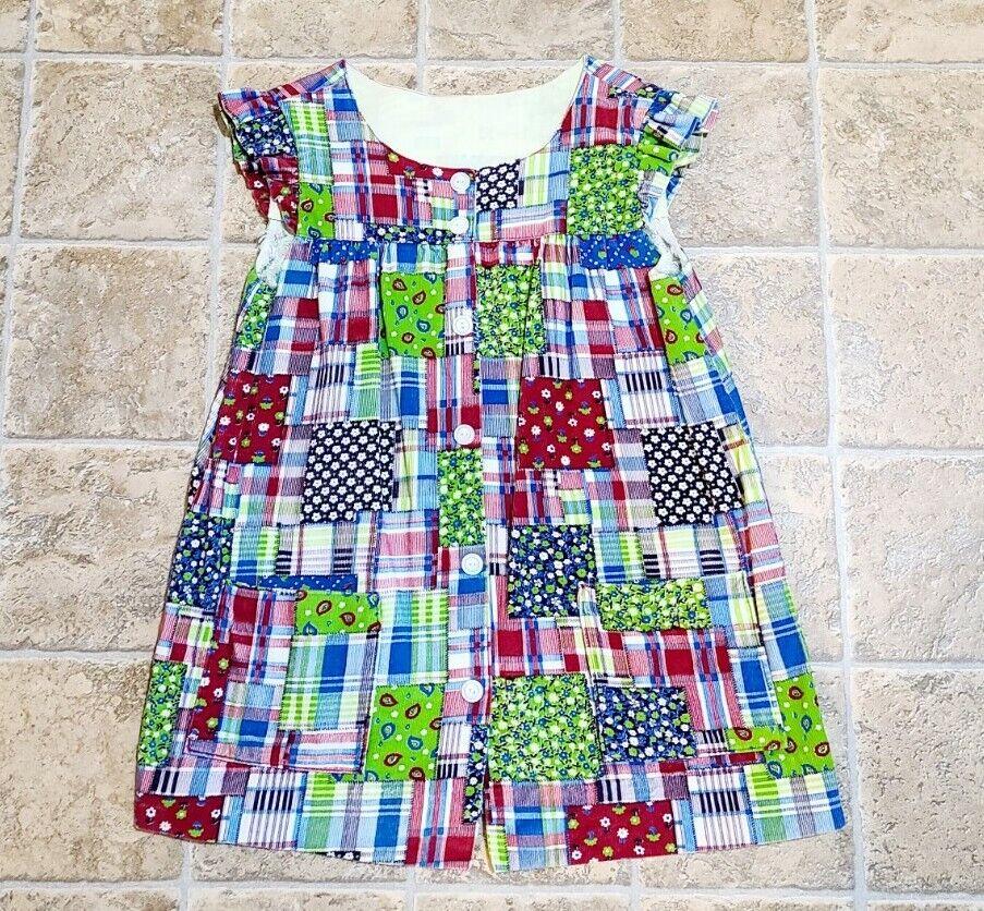 Vintage Corduroy Patchwork Floral Dress Hand Made… - image 3