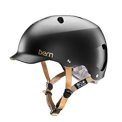 New Bern Lenox Women Bike /& Snow Helmet w// Visor SATIN BLACK XS Small 52-55.5cm