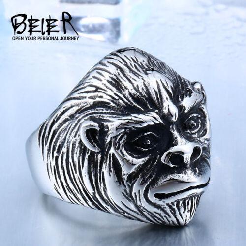 Sun Sun Wukong Cool Bague Pour Hommes Gorille PLANET OF MONKEY KING en acier inoxydable
