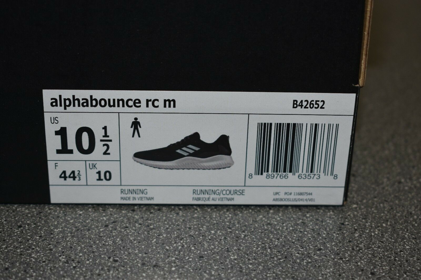 Uomo adidas alphabounce rc rc alphabounce b42652-shoes-size 10,5 22388f