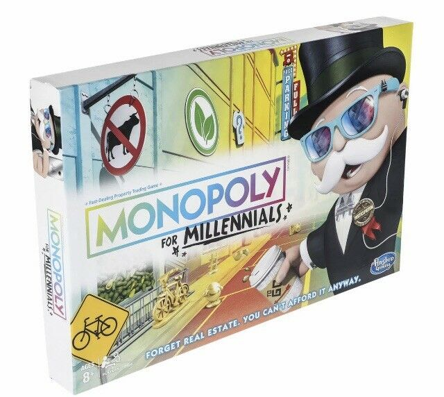 Monopoly For Millennials Edition Board Game 2018 NEW SEALED SOLD OUT (LOT OF 3)