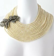 """HEIDI DAUS """"BEST IN BOWS"""" 13 Strands of Pearls Necklace"""