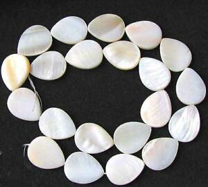 Delicious-Mother-of-Pearl-Pear-Bead-Strand-109049