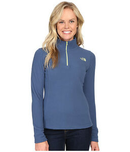 New Womens North Face Fleece Glacier 1/4 Zip Jacket Blue White Grey Pink Green