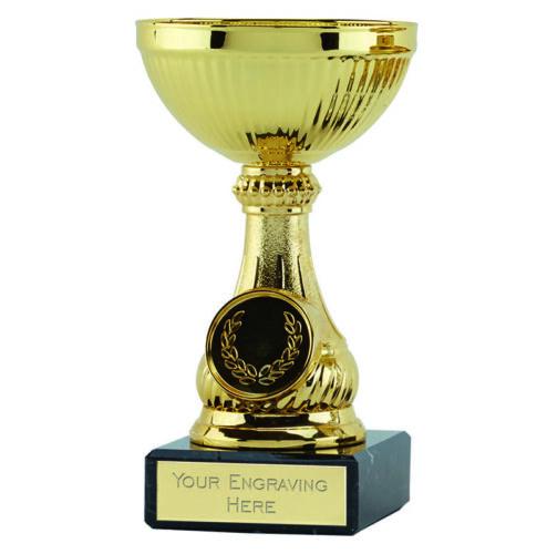 """Lake Gold Cup 5/""""//12.5cm Marble Base Trophy Award FREE ENGRAVING"""
