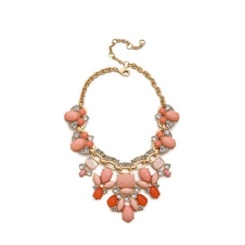 Lee by Lee Angel Women/'s Cabochon Stone Statement Necklace NIP $98 PEACH