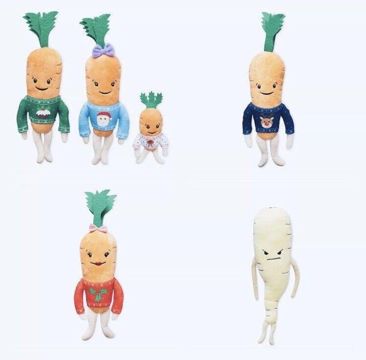 Aldi Kevin The Carrot 2018 Complete Family Set Katie, Jasper, Chantenay, Parsnip