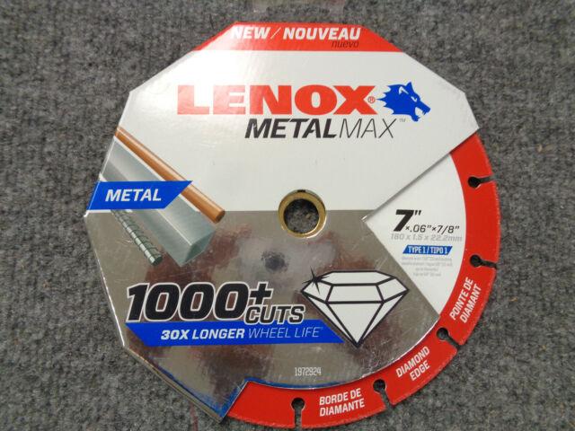 "for sale online Lenox METALMAX 7/"" Diamond Cutoff Wheel Blade 1972924"