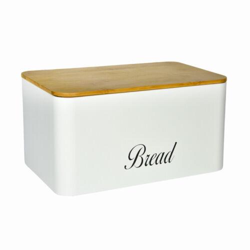 "Edelstahl /""BREAD/"" 35x21,5x20 cm Edelstahl Brotkasten Brotbox Brotkiste Holz"
