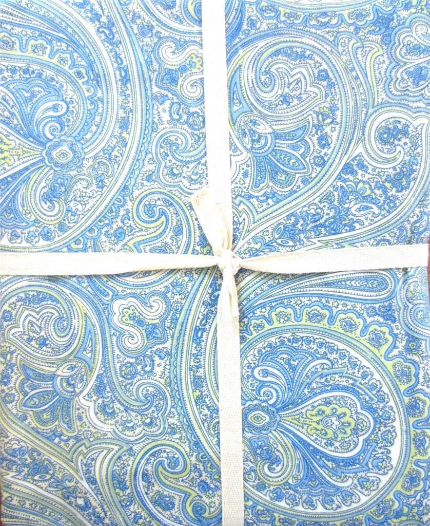 April Cornell Vert & Bleu Paisley Floral Fleurs tissu 60  X 120  Nappe