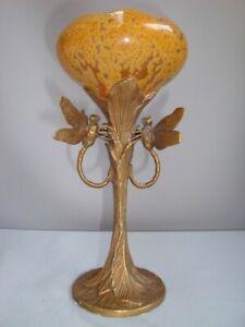 Vase-Libellule-Animalier-Style-Art-Deco-Style-Art-Nouveau-Porcelaine-Bronze